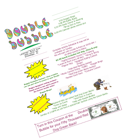 Click for the Double Bubble flyer